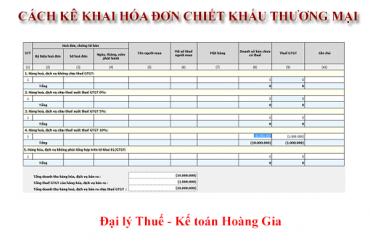 Cách kê khai hóa đơn chiết khấu thương mại<