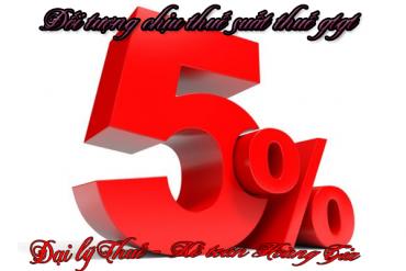 Đối tượng chịu thuế suất thuế gtgt 5%<